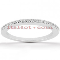 Ultra Thin Diamond Platinum Engagement Band 0.30ct