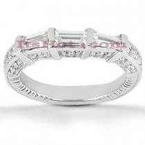 Thin Diamond Platinum Engagement Band 0.96ct