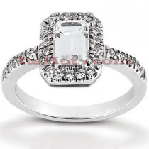 Diamond Platinum Engagement Ring 1.28ct