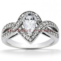Diamond Platinum Engagement Ring 1.33ct