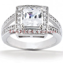 Diamond Platinum Engagement Ring 1.41ct