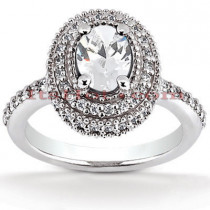 Diamond Platinum Engagement Ring 1.62ct