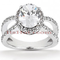 Diamond Platinum Engagement Ring 1.69ct