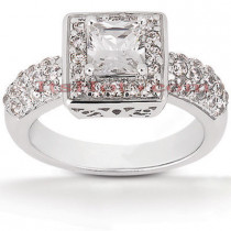 Diamond Platinum Engagement Ring 1.76ct