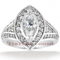 Diamond Platinum Engagement Ring 1.77ct