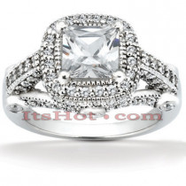 Diamond Platinum Engagement Ring 1.78ct