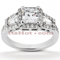 Diamond Platinum Engagement Ring 1.80ct