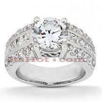 Diamond Platinum Engagement Ring 1.92ct