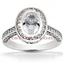 Diamond Platinum Engagement Ring 2.02ct