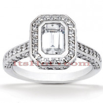 Diamond Platinum Engagement Ring 2ct