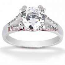 Diamond Platinum Engagement Ring Mounting 0.20ct