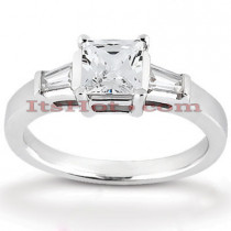 Diamond Platinum Engagement Ring Mounting 0.26ct