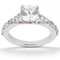 Diamond Platinum Engagement Ring Mounting 0.30ct