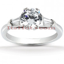 Diamond Platinum Engagement Ring Mounting 0.32ct