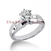 Diamond Platinum Engagement Ring Mounting 0.36ct