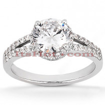 Diamond Platinum Engagement Ring Mounting 0.41ct