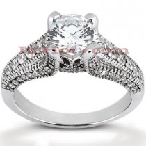 Diamond Platinum Engagement Ring Mounting 0.54ct