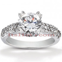 Diamond Platinum Engagement Ring Mounting 0.59ct