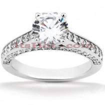 Diamond Platinum Engagement Ring Mounting 0.64ct
