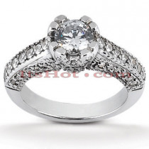 Diamond Platinum Engagement Ring Mounting 0.66ct
