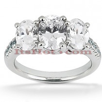 Diamond Platinum Engagement Ring Mounting 0.70ct