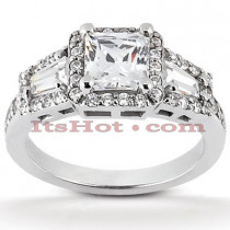 Halo Diamond Platinum Engagement Ring Mounting 0.80ct