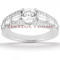 Diamond Platinum Engagement Ring Mounting 1.04ct