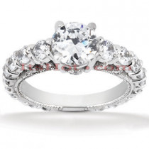 Diamond Platinum Engagement Ring Mounting 1.46ct