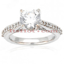 Diamond Platinum Engagement Ring Mounting Set 0.67ct
