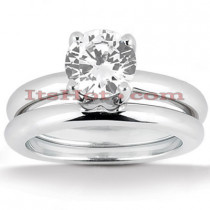 Diamond Platinum Engagement Ring Mounting Set