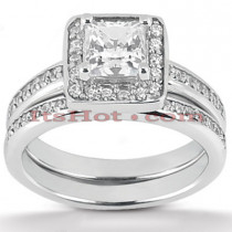 Diamond Platinum Engagement Ring Set 1.44ct