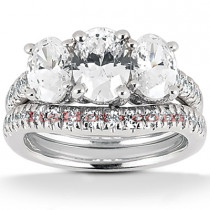Diamond Platinum Engagement Ring Set 2.03ct