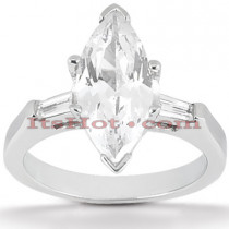 Diamond Platinum Engagement Ring Setting 0.16ct