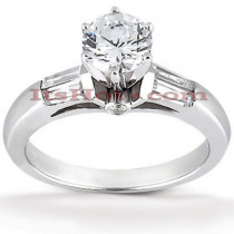 Diamond Platinum Engagement Ring Setting 0.24ct