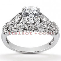 Diamond Platinum Engagement Ring Setting 0.32ct