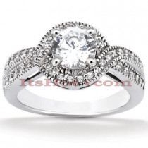 Diamond Platinum Engagement Ring Setting 0.33ct
