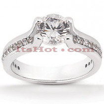 Diamond Platinum Engagement Ring Setting 0.39ct