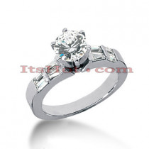 Diamond Platinum Engagement Ring Setting 0.40ct