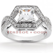 Diamond Platinum Engagement Ring Setting 0.48ct