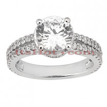 Diamond Platinum Engagement Ring Setting 0.58ct