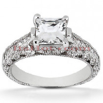 Diamond Platinum Engagement Ring Setting 0.64ct