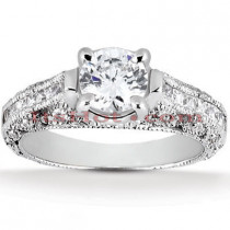 Diamond Platinum Engagement Ring Setting 0.69ct
