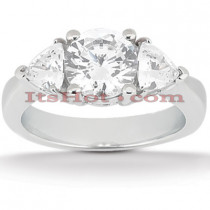 Diamond Platinum Engagement Ring Setting 0.70ct