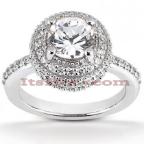 Halo Diamond Platinum Engagement Ring Setting 0.70ct