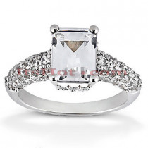 Diamond Platinum Engagement Ring Setting 0.72ct