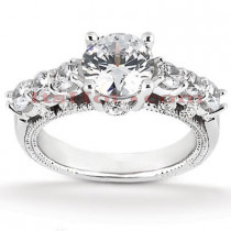 Diamond Platinum Engagement Ring Setting 0.75ct