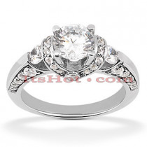 Diamond Platinum Engagement Ring Setting 0.81ct