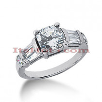 Diamond Platinum Engagement Ring Setting 0.90ct
