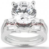 Diamond Platinum Engagement Ring Setting Set 0.28ct