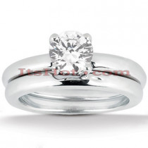 Diamond Platinum Engagement Ring Setting Set